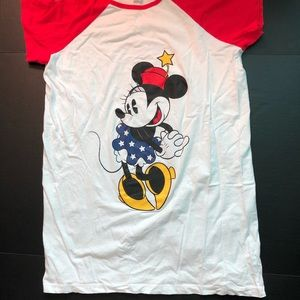 Minnie Mouse PATRIOTIC Nightgown/Shirt WHITE S/S